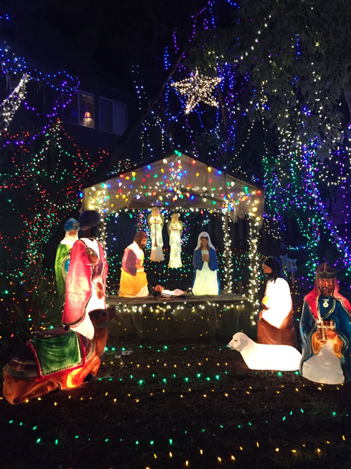 A Nativity scene at the Cambria Christmas Market.